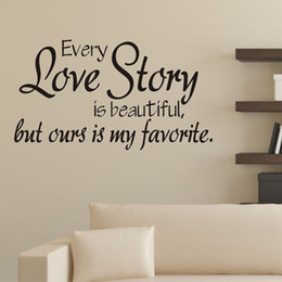 Wholesale New x32CM Love Story Poetry Art Background DIY Wall Stickers Decals Jecksion