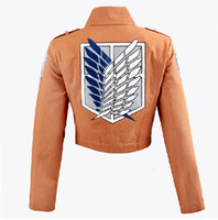 Wholesale Fashion Japanese anime Shingeki no Kyojin Attack on Titan Cosplay costume Eren Jacket Outwear Suit Clothes Coat for Halloween