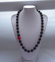 baby miao - Baby Momma Beads Silicone Necklace Teething Nursing Sensory with heart beads moms heart
