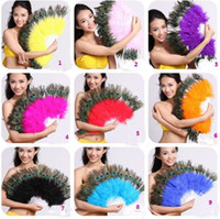 Wholesale hot sale Hot New Belly Dance Peacock Feather Fan color u Pick NEW