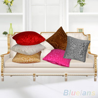 Wholesale Fashion Floral Throw Pillow Case Square Cushion Cover Shell Car Home Pure Color