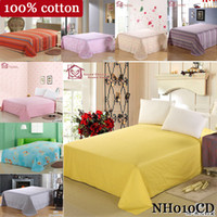Cheap FREE FEDEX100% cotton bedspread for queen size 230*250cm bedding sets pink beige blue grey hello kitty bed sheets flat sheets