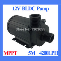 Wholesale High Efficiency Water pump V Solar pump MPPT Controller built in LPH M Submersible Fountain Aquarium Water Circulating