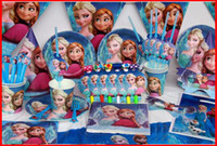 Wholesale 2016 New Luxury Kids Party Birthday Decoration Set Frzon ELSA ANNA Theme Party Supplies Baby Birthday Party Pack Baby gift sets