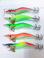 Hard Baits big game fishing lures - fishing hook Squid fishing lure jig g orange