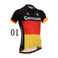 Wholesale New Germany Cycling BOX Cycling Jerseys Breathable Short Sleeve Bike Tops Anti Wrinkle Fadeless Mans Cycling Shirts Size from S to XL