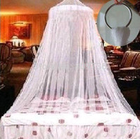 Cheap New 1PC Hot Summer Decoration White Insect Fly Bed Canopy Netting Curtain Dome Mosquito Net Outdoor Free