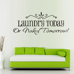 New 58x25CM Laundry Fashion Artistic Peel and Stick Wall Stickers Decals Jecksion