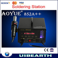 Cheap Free shipping 220V AOYUE 852A++ SMD Hot Air Gun Soldering station Desoldering Station,Aoyue852A++ Hot Air Rework Station