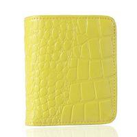 Wholesale 2014 New genuine leather women wallet simple fashion savvy crocodile elegant long medium short style purse for lady