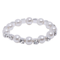 big body jewelry - Top Selling In Stock Bridal Jewelry Gorgeous Bracelet with Clear Crystals and Big Pearls Fashion Blink Wedding Accessories