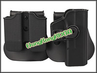 Cheap Wholesale-IMI DEFENSE Polymer Retention Polymer Roto Holster Fits Glock 19 9 40 Very Good Quality Holster Fit Glock Black