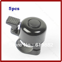 Cheap W110 Free Shipping 5pcs lot Metal Ring Handlebar Bell Sound for Bike Bicycle Black