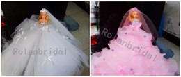 Wholesale New Arrival Tulle Real Photos various Sequins Confetti Custom Made Long Tulle Barbie doll Fashion HOT SALE Wedd