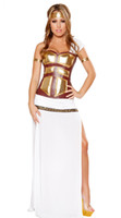 Cheap New style Deluxe Greek Goddess Costume Fancy Ladies Egyptian Halloween Costume 6S1459 Free Shipping Hot Sale Sexy party costumes
