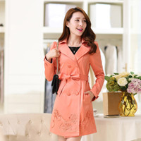 Cheap Windbreaker female models 2014 new fall and winter clothes are Slim lady long section of European and American women's double-breasted coat