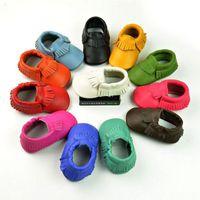 In Stock Multy Color Baby Prewalker Real Leather Ruffles Sho...