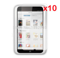 Cheap 10pcs lot Clear LCD Screen Protector Films Protective Film Guards for B&N Barnes & Noble Nook HD 7 HD7 7