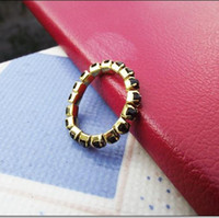 Cheap Free Shipping!5Pcs New Alloy Stretchy Rings Jewelry With Black Stones(r1005)