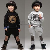 Wholesale Boys Girls Kids Sets Children Set Kids Suit Outfits Korean Spring Autumn Long Sleeve T Shirt Casual Pants Children Clothes Kids Clothing