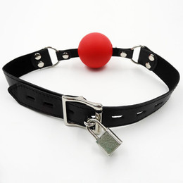 Classic Locking Ball Gag Hard Plastic Hollow BDSM Bondage Ball Gags Sex Toy For Women Slave