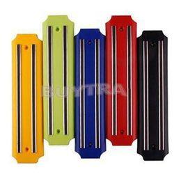 2014 New Kitchen Utensil Plastic Knife Holder Wall Mount Magnetic Knife Rack Strip