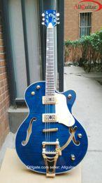 Gret Blue Flame Chet Atkins Nashville Guitar Hollow body Electric Guitar China guitar
