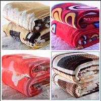 Wholesale 16 styles blanket thickening flannel blanket for household air conditioning FL velvet sheets towel coral fleece blanket C595