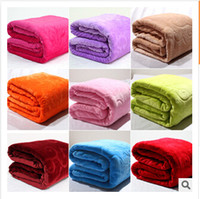 flannel sheets - 16 styles blanket thickening flannel blanket for household air conditioning FL velvet sheets towel coral fleece blanket frozenC595