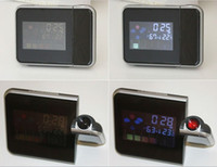 Cheap Digital LCD Screen LED Projector Alarm Clock Weather Station Freeshipping