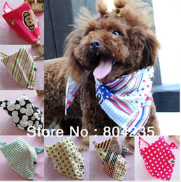 Wholesale Mix color order cm very cute cotton pet scarf dog scarf dog bandana puppy teddy poodle cat scarf