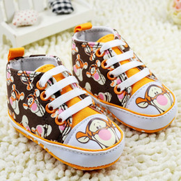 Wholesale Cartoon Baby First Walker Shoes The Tiger Picture Toddler Foot Wear Infant Shoes pair WD203