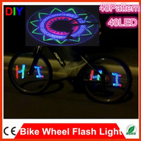 bicycle wheel design - 48 LED Bicycle Bike Programmable Wheel Flash Light Double Side display DIY Designs Patterns Rim Lighting RGB