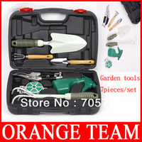Wholesale DHL New OK TOOLS G3007A Piece set Garden Tool Set with portable Case