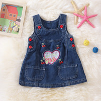 Cheap Simple Denim overall Best overall suspender skirt