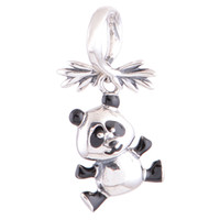 Wholesale Dangles Charms Beads Crystal Silver Panda Silver Dangle Charm fit European Bracelets No YZ473