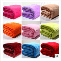 flannel sheets - 16 styles blanket thickening flannel blanket for household air conditioning FL velvet sheets towel coral fleece blanket C595