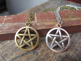 Wholesale the supernatural necklace Dean winchester jewelry star necklace