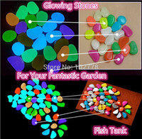 Cheap DHL 100bags Decorative Gravel forYour Garden Yard 100pcs Glow in the Dark Pebbles glowing Stones for Walkway light up Fish tank
