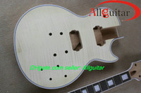 Wholesale Flame Top unfinished Mahogany guitar Frets binding body China guitar Body