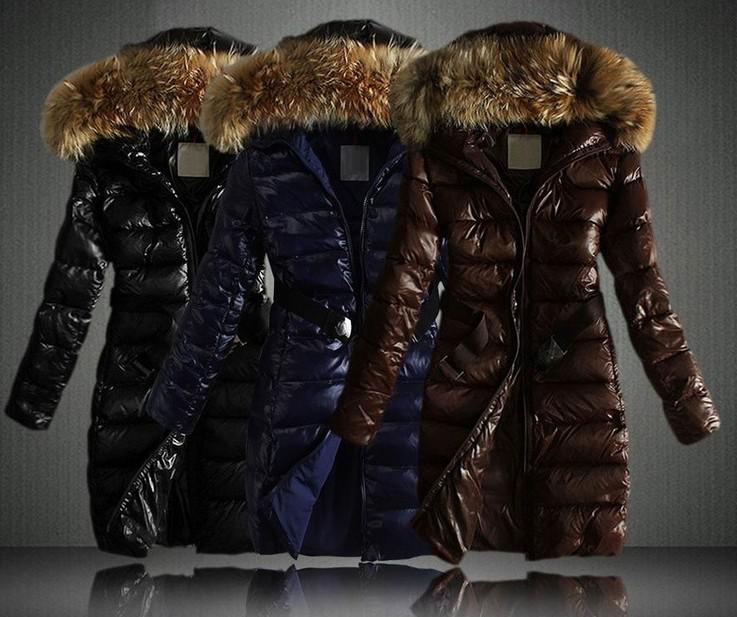 New 2015 Winter Cotton Padded Coats Raccoon Fur Collar Big Hooded ...