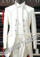 Cheap Morning Fashion88 Tailor Suit cheap New style Men Wedding Wear Bridegroom dress white Groom tuxedos white prom man for suit S05