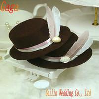 hat boxes - GAGA sales promotion British hat wedding gift box candy box wedding box SS26 coffee