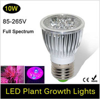 flower bulb - NEW Full spectrum LED Grow lights W E27 GU10 LED Grow lamp bulb for Flower plant Hydroponics system AC V V V grow box