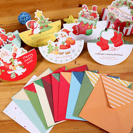 Santa Claus Merry Christmas Greeting Card MINI Festive Gift Card Cute Note Message Card Free Shipping 100pcs lot SD300
