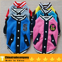 Coats, Jackets & Outerwears baseball hot dogs - Hot Sale Dog Clothes Movement Of Pet Clothes Dog Clothes Baseball Teddy Clothes