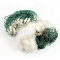 gill net - m Long Clear White Green Monofilament Fishing Fish Gill Net with Float