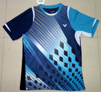 badminton victor shirt - 2014 New Arrival Badminton Shirt Victor Badminton Clothes Set Victor Men Women Polyester Table Tennis Jersey and Shorts