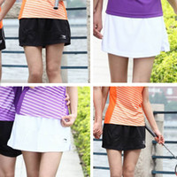badminton skirt - Tenis Feminino Li Ning Skirts Tennis Fitness Short Skirt Badminton Skort Womens Sport Girls Tennis Skirts XXL