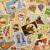 Wholesale 32pcs set Cartoon Vintage style poster Drawing post card set greeting postcards Christmas Card Postcard Gift